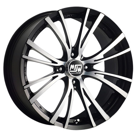 MSW 4X100 17X7 ET37 MSW 20-4 Matt Black Full Polished 63,4
