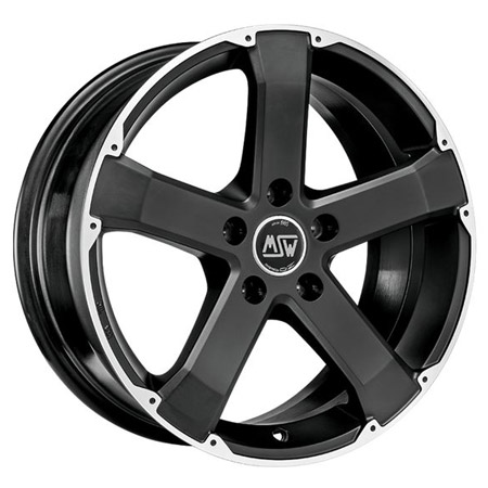 MSW 5X130 18X8 ET43 MSW 45 Matt Black Full Polished 71,6