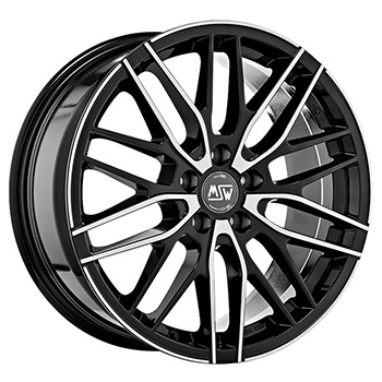 MSW 5X108 17X7 ET45 MSW 72 Black Full Polished 73,1