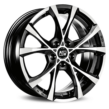 MSW 5X105 18X8 ET38 CROSS OVER Black Full Polished 56,6