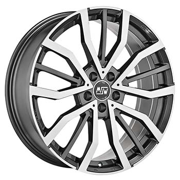 MSW 5X114.3 18X8 ET30 MSW 49 Gloss Gun Metal Full Polished 73,1