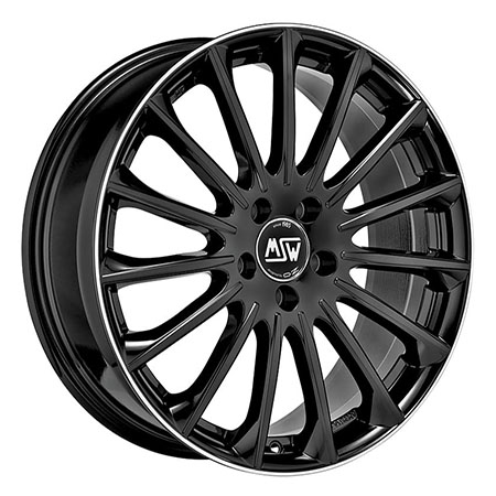 MSW 5X112 19X8.5 ET43 MSW 30 Gloss Black Diamond Lip 73,1