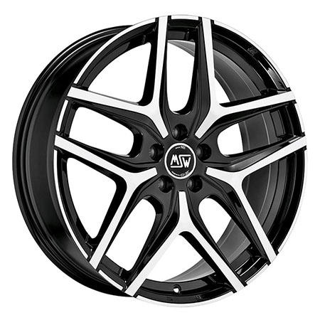 MSW 5X114.3 18X8 ET45 MSW 40 Black Full Polished 73,1