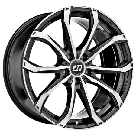 MSW 5X114.3 20X6.5 ET33 MSW 48 Black Full Polished 66,1