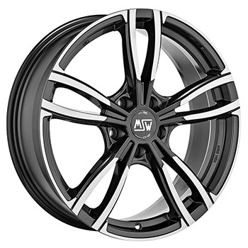 MSW 5X112 18X8 ET42 MSW 73 Gloss Dark Grey Full Polished 73,1