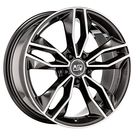 MSW 5X114.3 18X8 ET40 MSW 71 Gloss Dark Grey Full Polished 73,1
