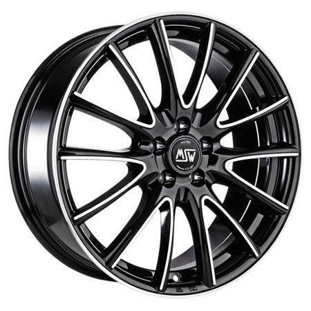 MSW 4X108 16X6.5 ET42 MSW 86 Black Full Polished 63,4