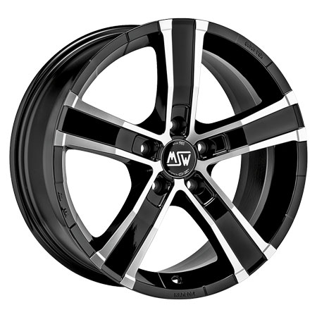 OZ 5X120 18X8 ET45 SAHARA 5 Black Full Polished