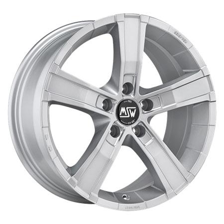 MSW 5X120 18X8 ET45 SAHARA 5 Full Silver 65,1