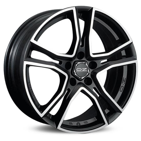 OZ 4X108 16X7 ET16 ADRENALINA Matt Black Diamond Cut 75