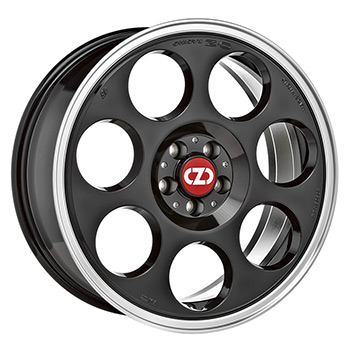 OZ 5X114.3 17X7 ET45 ANNIVERSARY 45 Black Diamond Lip 75