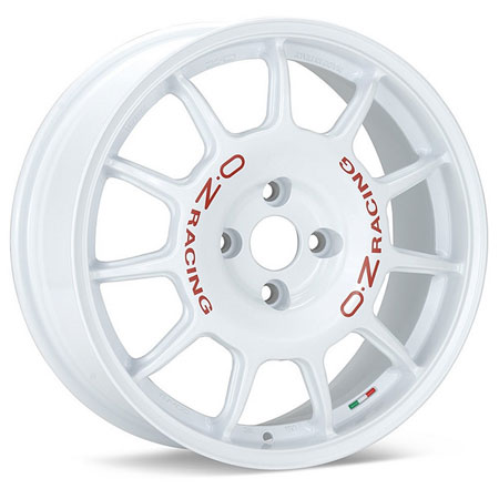 OZ 4X108 17X7 ET25 LEGGENDA White Red Lettering 75