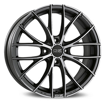 OZ 5X100 17X7 ET48 ITALIA 150 Matt Dark Graphite DC