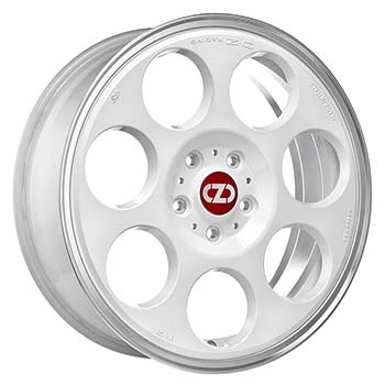 OZ 5X114.3 18X7.5 ET45 ANNIVERSARY 45 Race White Diamond Lip 75