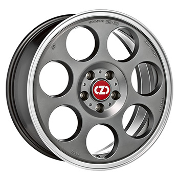 OZ 5X112 17X7 ET35 ANNIVERSARY 45 Matt Titan Diamond Lip 75