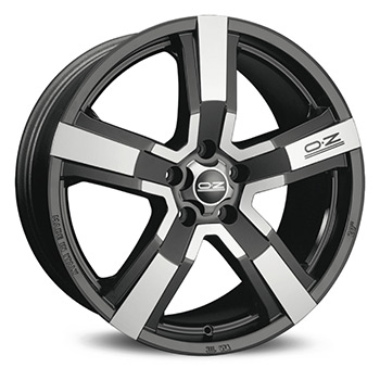 OZ 5X108 18X8 ET45 VERSILIA Matt Black Diamond Cut 75