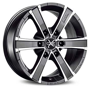 OZ 6X139.7 17X8 ET45 SAHARA 6 Matt Graphite Diamond Cut 92,4
