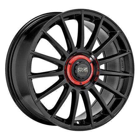 OZ 5X112 20X8.5 ET45 SUPERTURISMO EVOLUZION Gloss Black Red L79