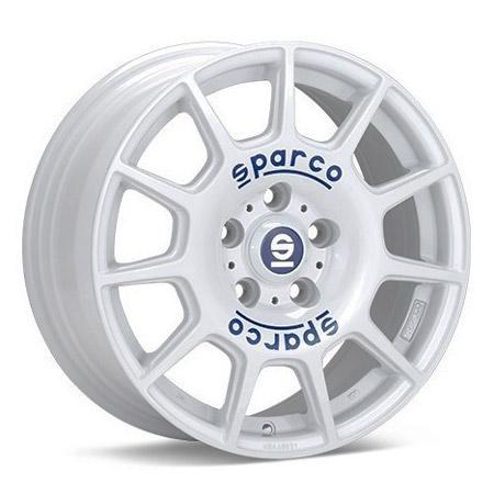SPARCO 5X112 16X7 ET48 SPARCO TERRA WHITE BLUE LETTERING 73,1