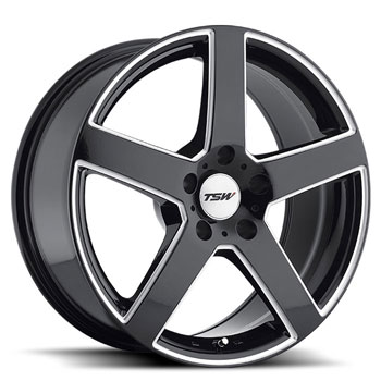 TSW 5X114.3 17X8 ET40 RIVAGE GLOSS BLACK 76
